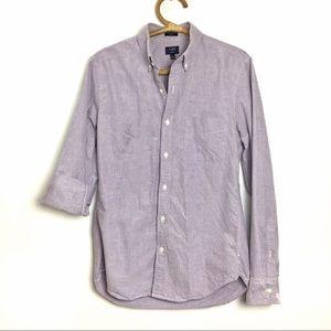 J.Crew Factory | Mens Purple cotton button up | M